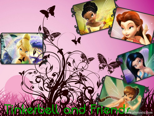 Tinkerbell and Friends Collage
