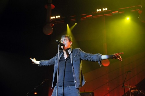 "Tom Chaplin and his band ""Keane"" perform live in concert at Brixton Academy, London, England"