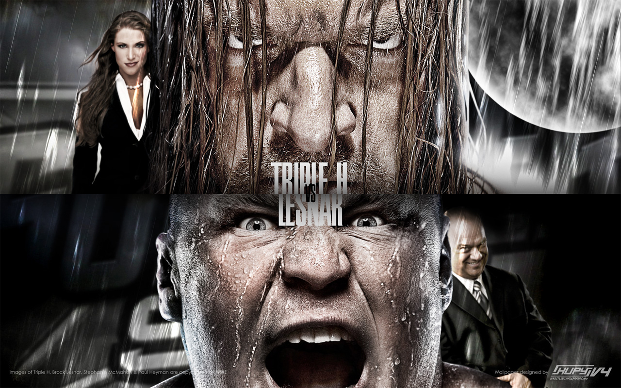 WWE Triple H vs Brock Lesnar