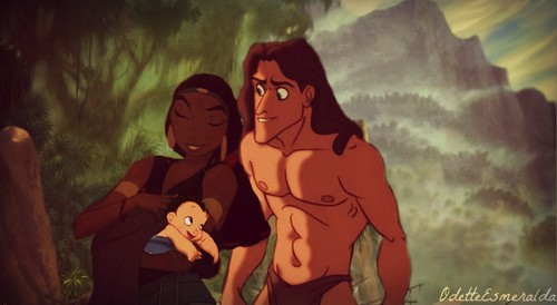 disney crossover fondo de pantalla with anime called Tzipporah and Tarzan's Son