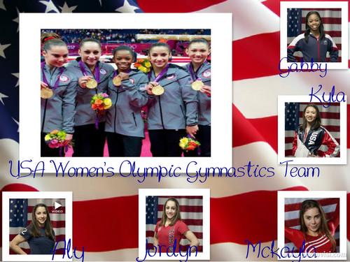 USA Gymnastics Team Collage