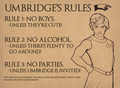 Umbridge Rule´s
