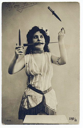 Vintage Knife Juggler - random Photo