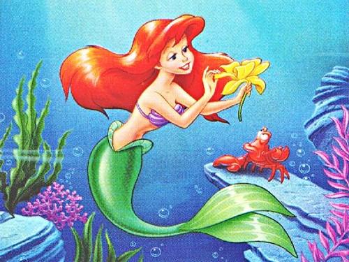 Walt Disney picha - Princess Ariel & Sebastian