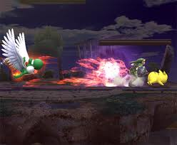Yoshi Beats the punda out of Pikachu and Link