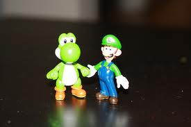 Yoshi and Luigi Figurines