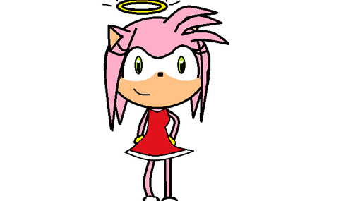 amy rose (angle) - sonic-the-hedgehog Fan Art