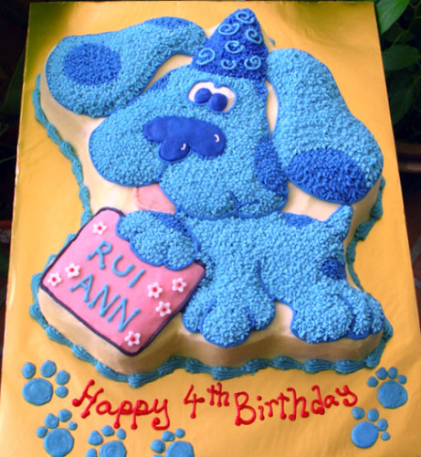 nourriture fond d'écran entitled blue's-clues-cake