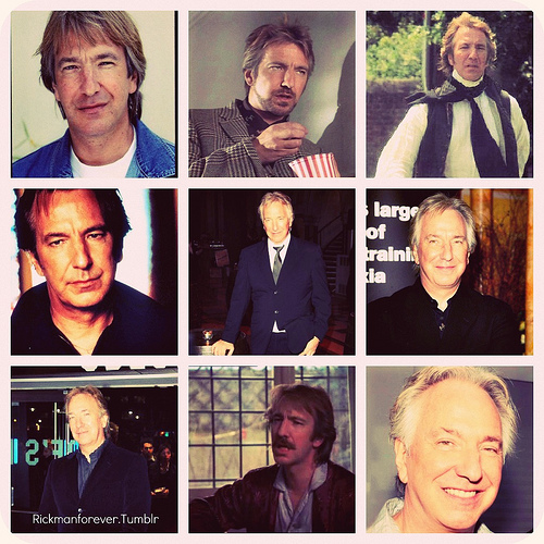 collage of Alan Rickman