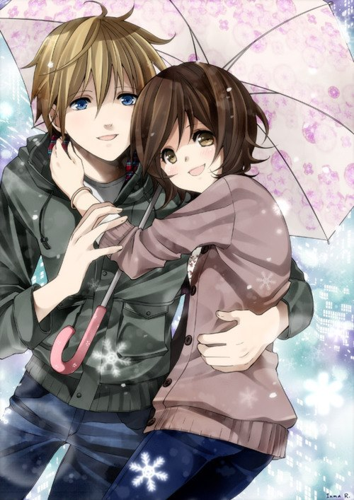 Anime images cute couple wallpaper and background photos - Image manga couple ...