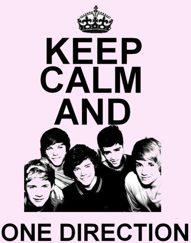 One Direction Wallpaper With Anime Called Keep Calm 333