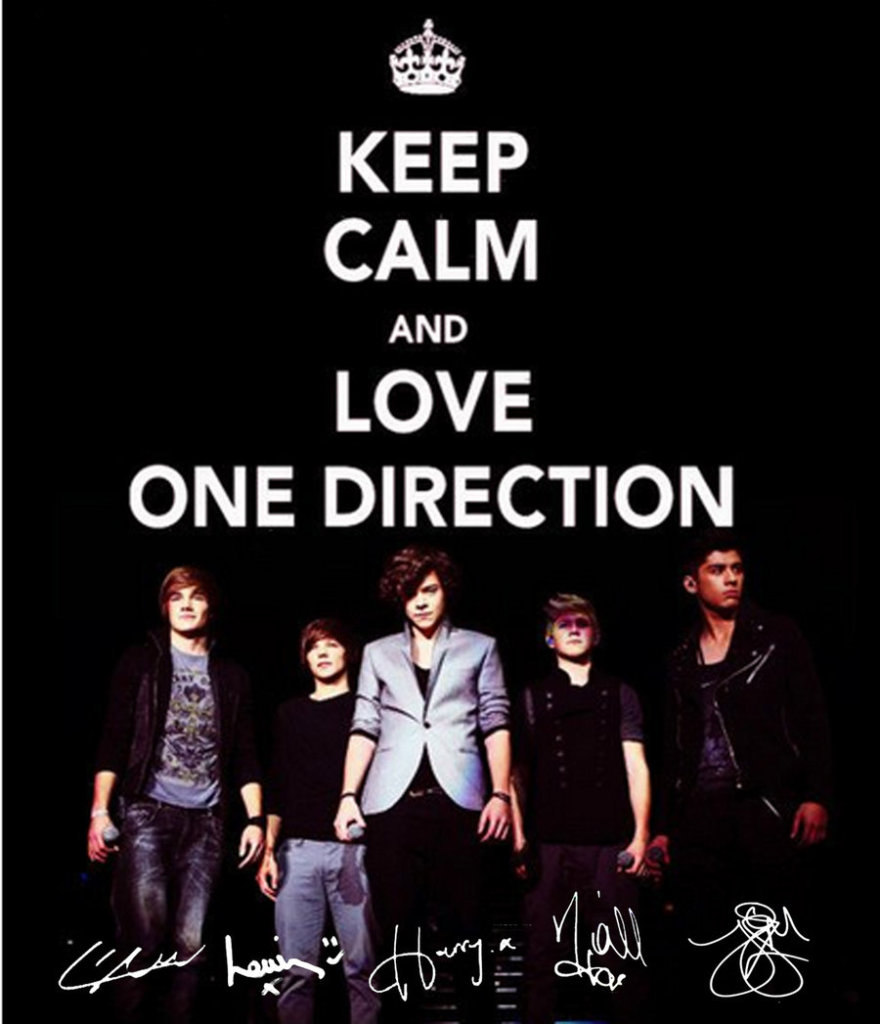 One Direction keep calm