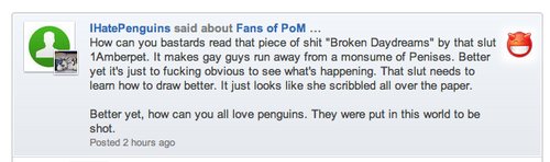 "please meld him. he is being mean to fans of ""penguins of madagascar"""