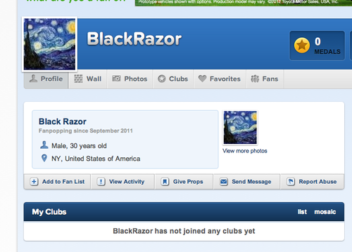 laporan them, er, him. their name, ahem, his name is razor
