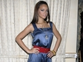 rihanna in navy blue suit and anchor chain