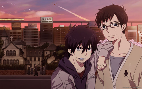 Ao no Exorcist fondo de pantalla containing anime called rin & yukio