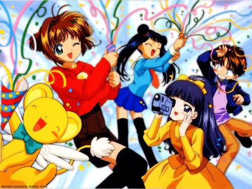 sakura,syaoran,meiling,tomoyo and kero