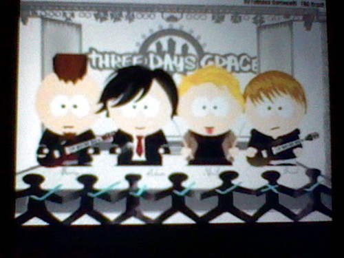 Three Days Grace wallpaper containing a chainlink fence called three days grace in south park form