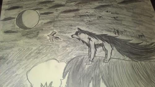 狼 art, made 由 trueshadowwolf