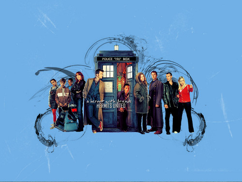 doctor who wallpaper called 'Hermits United' wallpaper <3
