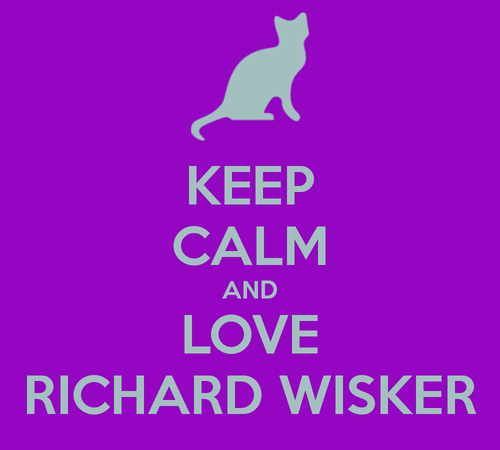 'Keep calm and carry on'-Richard Wisker remake. <3