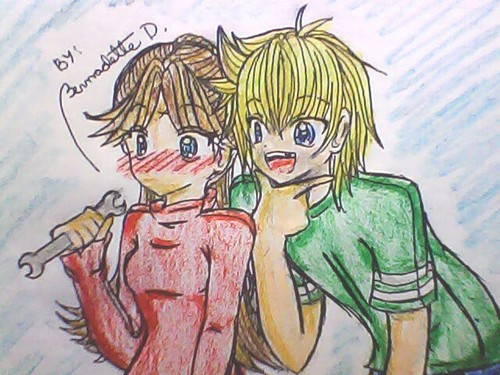 """""""My 팬 Art of Jimmy Two-Shoes and Heloise 아니메 Love"""""""
