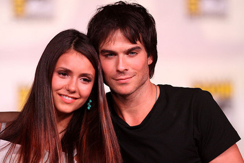 Ian Somerhalder and Nina Dobrev wallpaper containing a portrait entitled :')