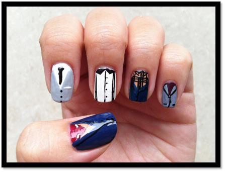 1D nail art