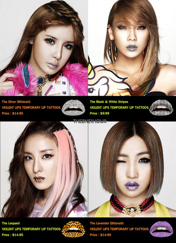 DARA 2NE1 Hintergrund probably containing a portrait called 2ne1 lip Tattoos