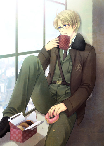 Hetalia wallpaper with a business suit called America~! <3