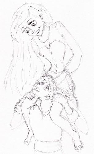 Ariel riding Eric