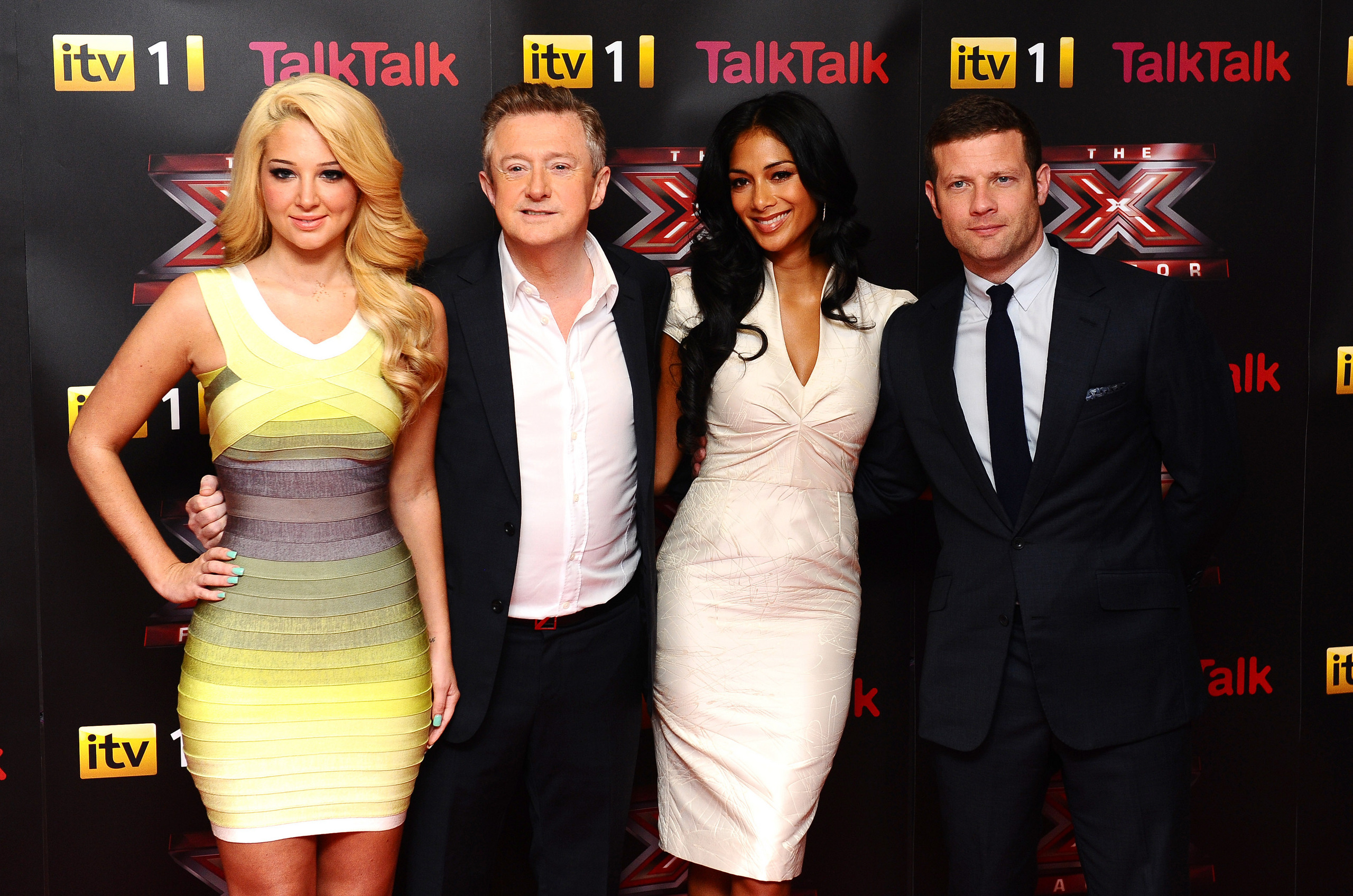 Arriving At The X Factor Press Launch At The Corinthia Hotel In London [16 August 2012]