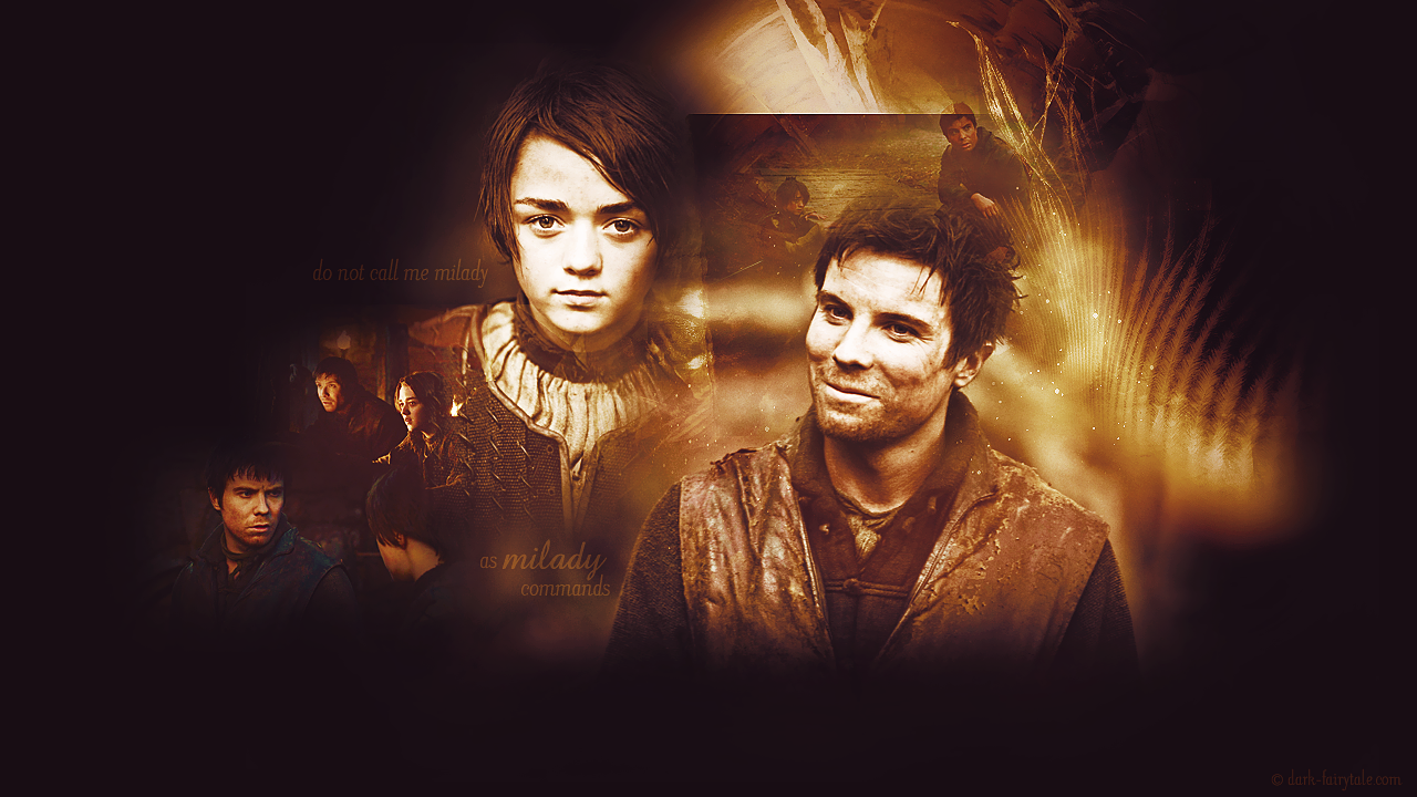 arya and gendry images arya & gendry hd wallpaper and background