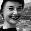 Audrey Hepburn photo possibly with a portrait called Audrey
