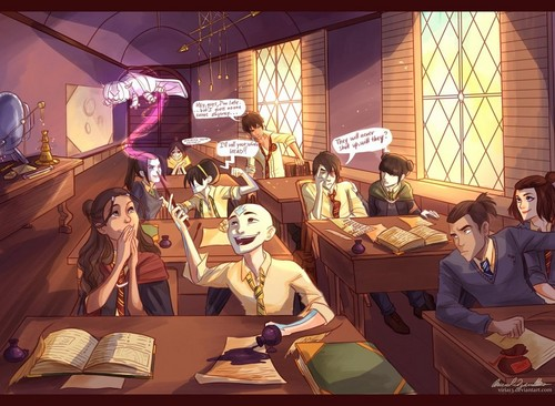 Avatar characters at Hogwarts