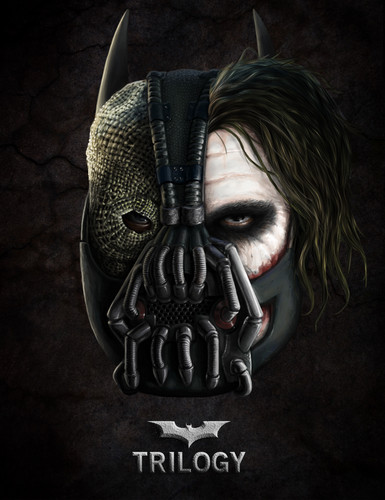 Batman wallpaper entitled Bane/Joker