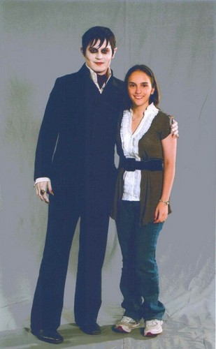 Barnabas Collins with a Lucky Girl - tim-burtons-dark-shadows Photo