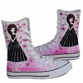 Beauty city princess shoes drawing  - converse photo