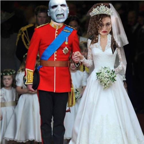 Bellatrix and Voldemort get married