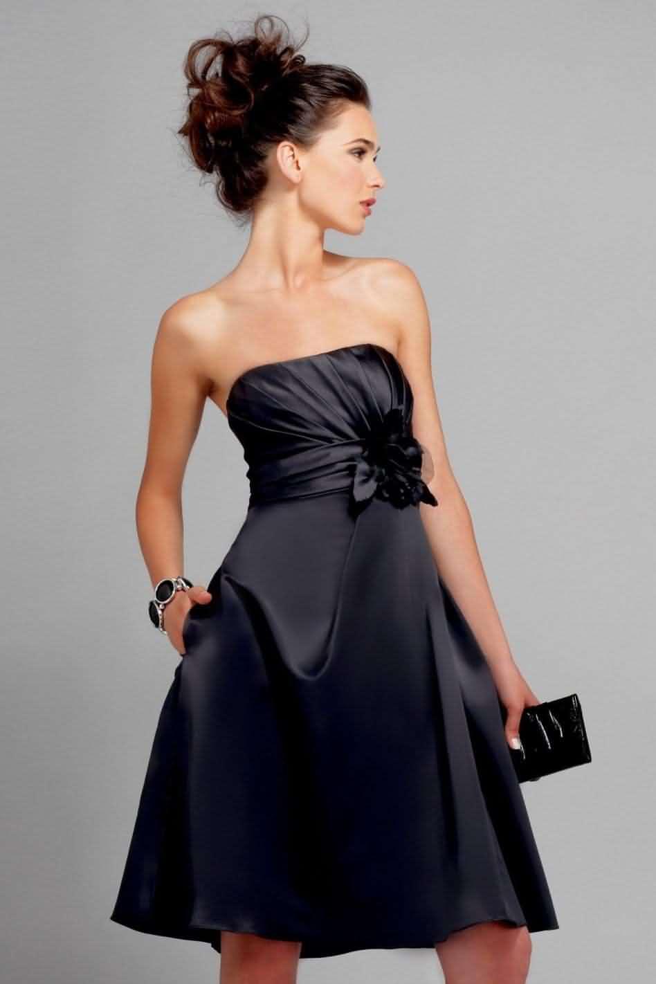 прически под черное вечернее платье фото