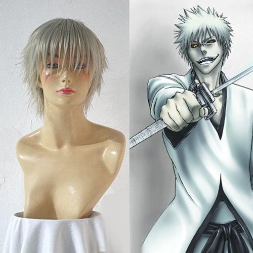 Bleach Hollow Kurosaki Ichigo White Cosplay Wig
