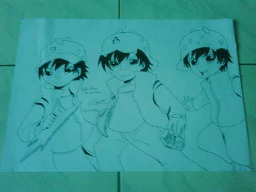 Boboiboy kertas dinding possibly containing Anime entitled BoBoiBoy Fanart sejak me