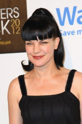Pauley Perrette wallpaper probably containing a cocktail dress and a bustier titled CBS' Teacher's Rock Special Live Concert 08/14/2012
