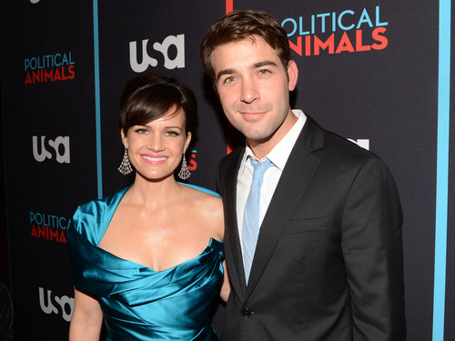 Carla Gugino and James Wolk @ the Political Animals Red Carpet Premiere