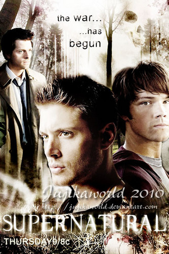 Castiel, Dean and Sam - supernatural Photo