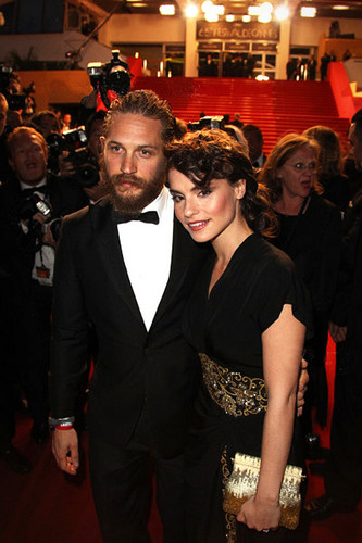 charlotte with Tom on the premiere The Lawless
