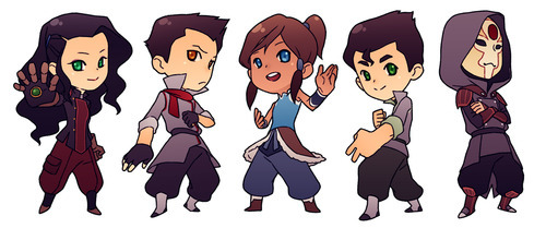 Avatar, La Légende de Korra fond d'écran possibly containing animé entitled Chibis
