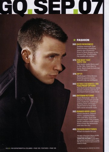 Chris - GQ Magazine Photoshoot (2007)