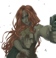 Clint & Natasha - hawkeye-and-black-widow fan art