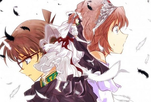 Conan X Haibara (Princess and Knight)